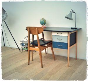 Bureau Vintage Pieds Compas Revisite Relooking Bureau Relooking Meuble Et Bureau Petit Espace