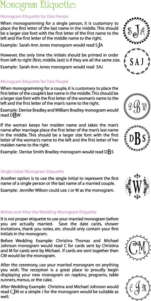 Monogram Etiquette At Justrite Stampers  Colors Metals Stones