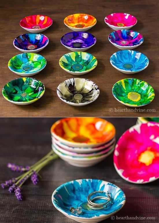 15 Creative DIY Alcohol Ink Ideas and Crafts #alcoholinkcrafts