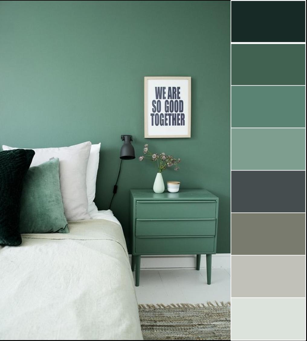 Graues Und Grünes Schlafzimmer #Heimdekor #Wohnzimmer #Bad
