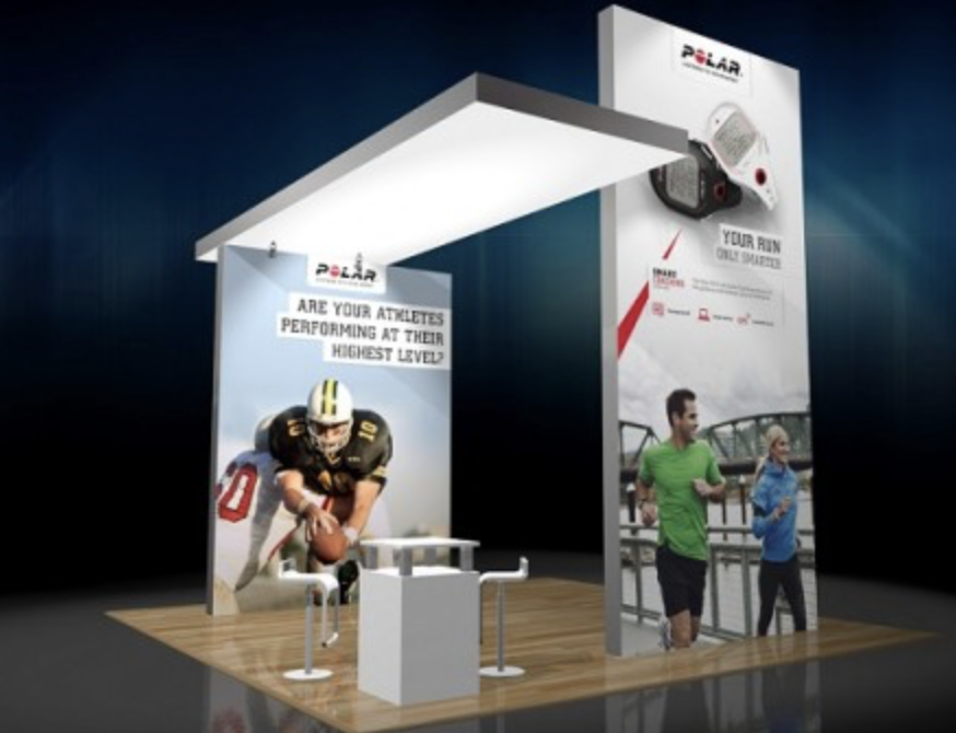 Modern 20x20 Island LED Light Box Trade Show Rental Booth Features Complete