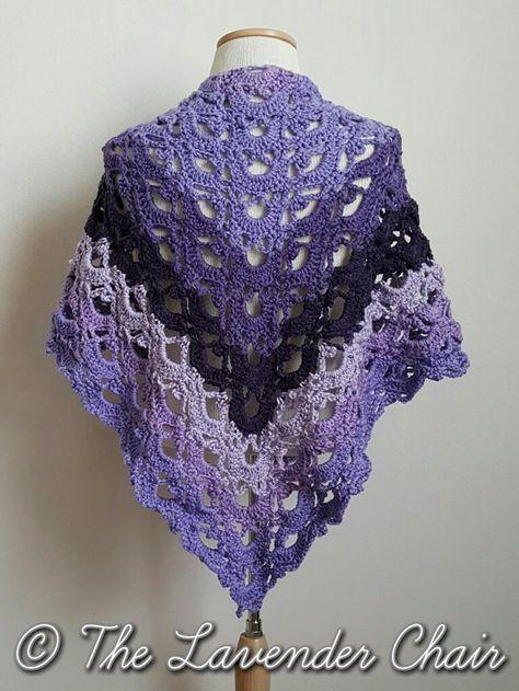 Mirrored Gemstone Lace Shawl Crochet Pattern | crochet | Pinterest ...