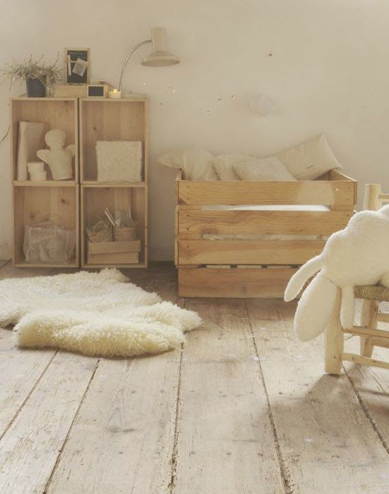 chambre-naturelle-blanc-et-bois.jpg 567 × 720 pixels | imagenes ...