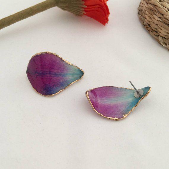 Orchid Earrings Purple Earrings Orchid Stud Earrings Purple Etsy In 2020 Orchid Earrings Purple Earrings Blue Stud Earrings