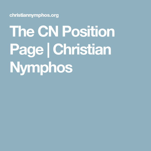 Christian nymphos org