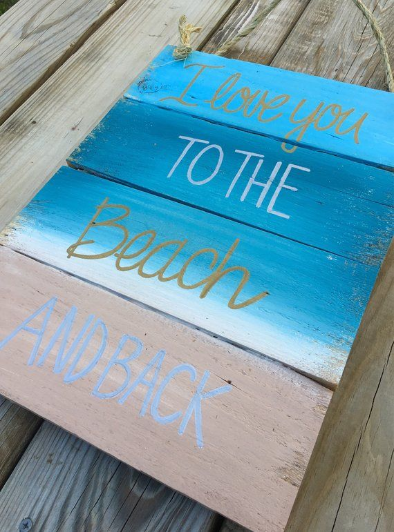 Download Beach House Sign- I Love You To The Beach And Back- Beach ...