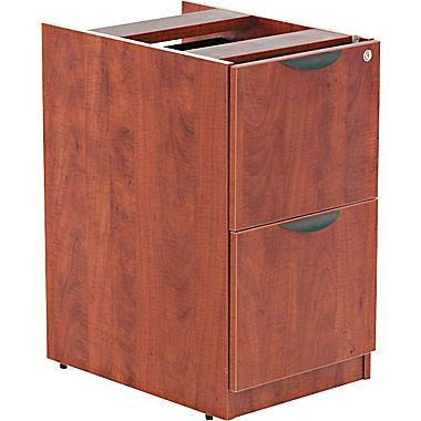 "$239  might also fit under the ledge in the reception desk?    Alera™ Valencia File/File Full Pedestal, 28 1/2""H x 15 5/8""W x 22 7/8""D, Medium cherry"