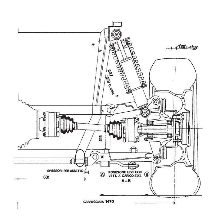 ferrari308 rear suspension GAS TIRES AND OIL