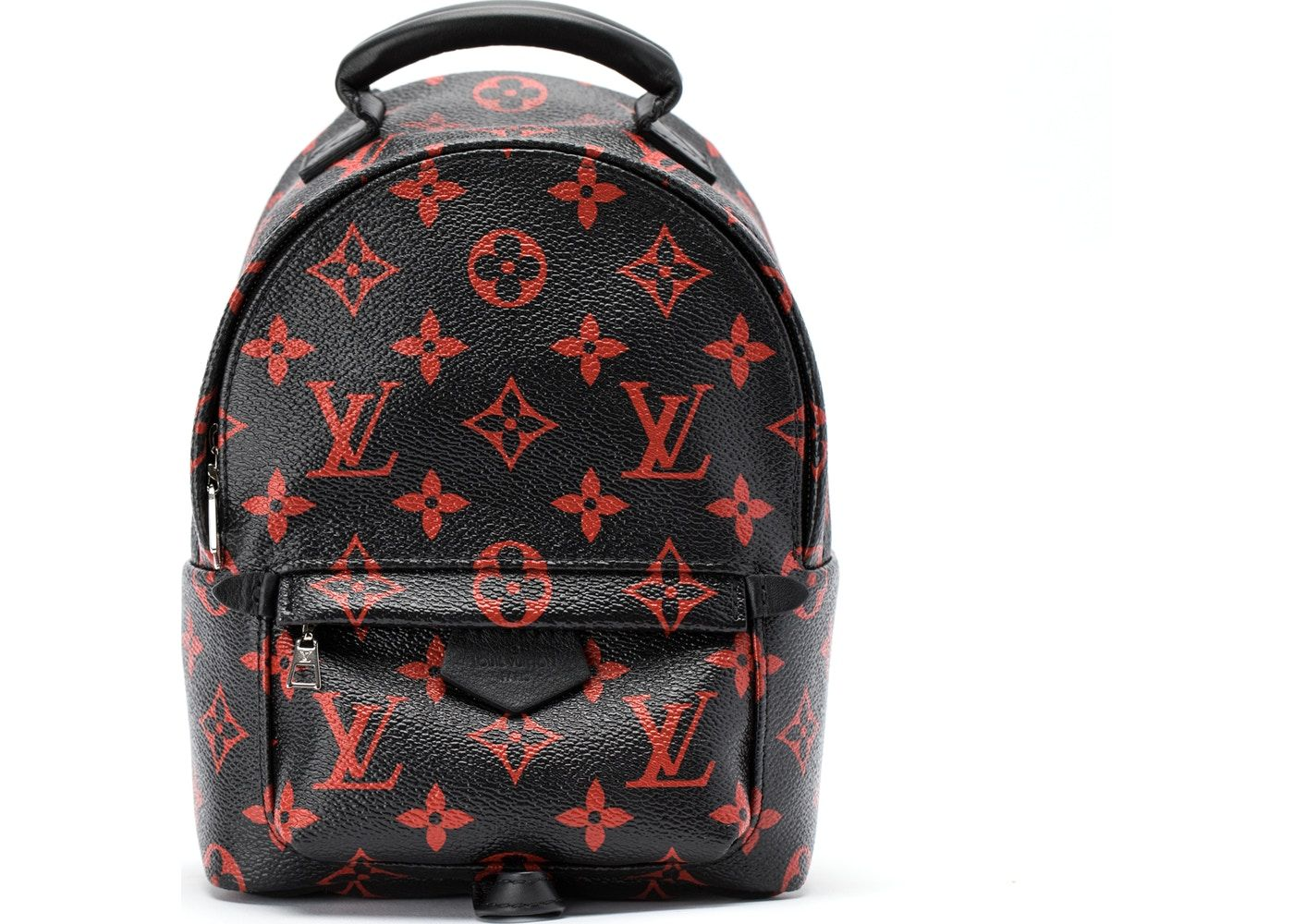 92c68f35109f Louis Vuitton Backpack Palm Springs Monogram Infrarouge Mini Black ...