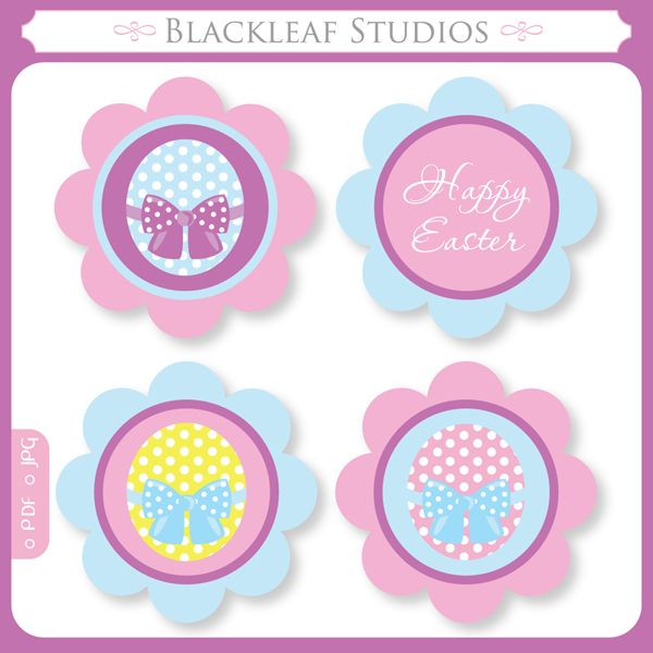 free printable easter cupcake toppers free download cute