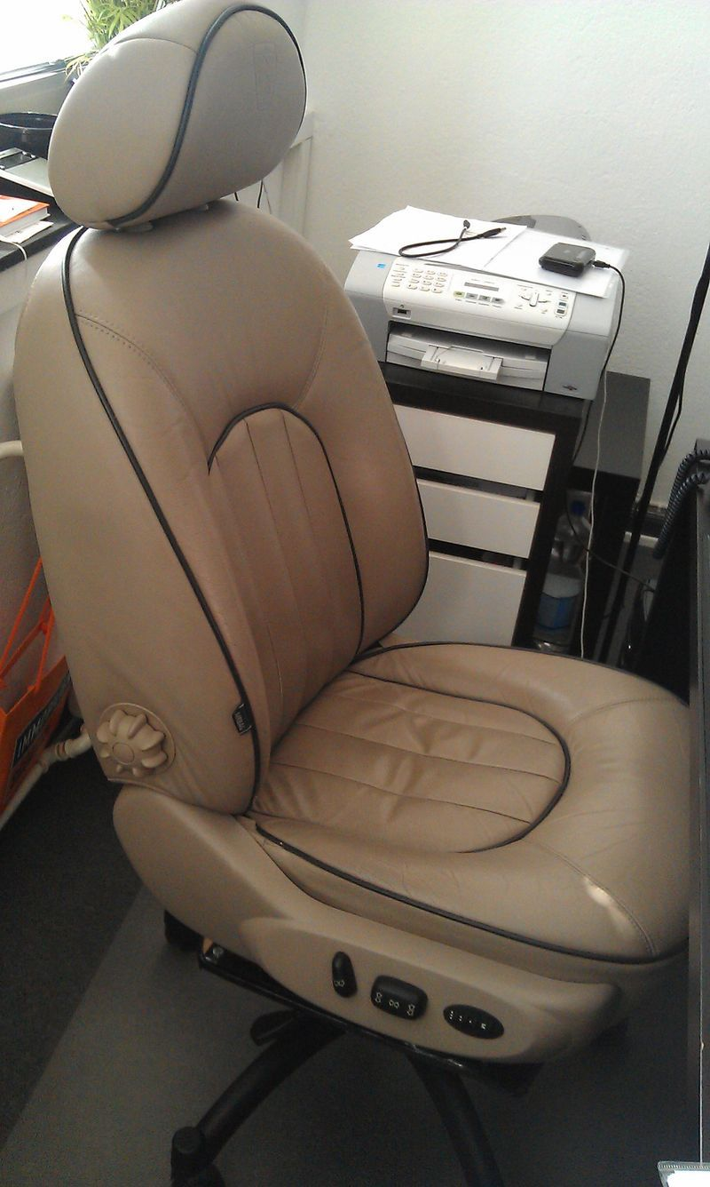 Rover 75 Car Seat Converted To Office Chair