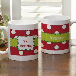Polka Dot Personalized Christmas Holiday Coffee Mug - 7605 | G ...