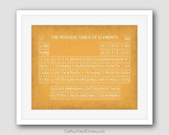 Periodic Table Of Elements Print Science Classroom Chem Lab Wall Decor Science Geek Gift Chemistry