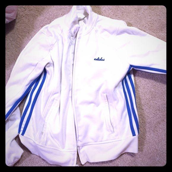 Adidas sport jacket Rarely worn vintage Adidas jacket. Tags say large but it fits like a medium Adidas Jackets & Coats Utility Jackets