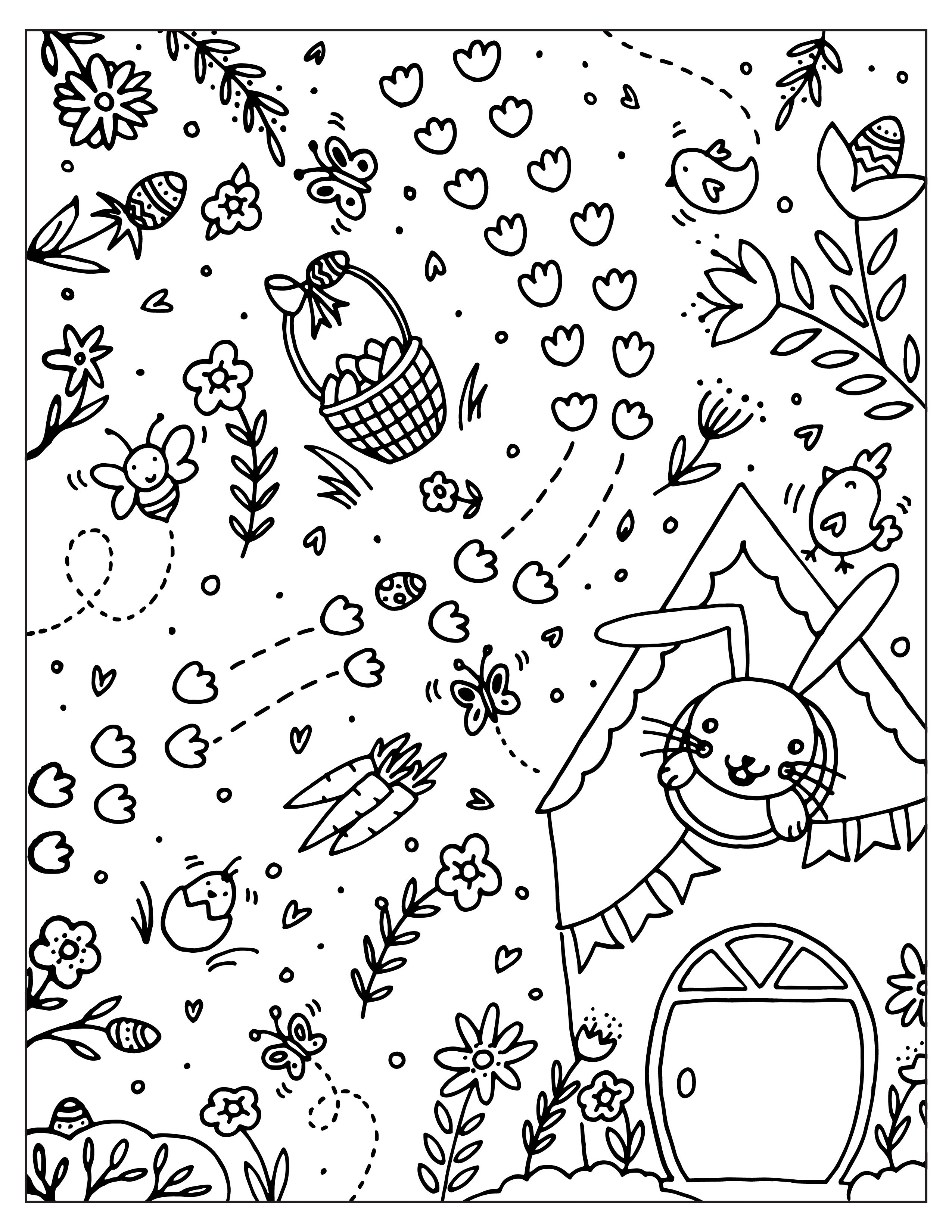 Coloring Sheet Easter Egg Hunt Birthday Coloring Pages Business For Kids Coloring For Kids