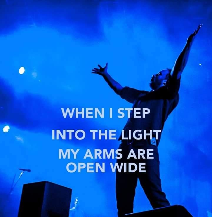 Step Into The Light When I Step Into The Light  My Ares Are Open Wide My Dave