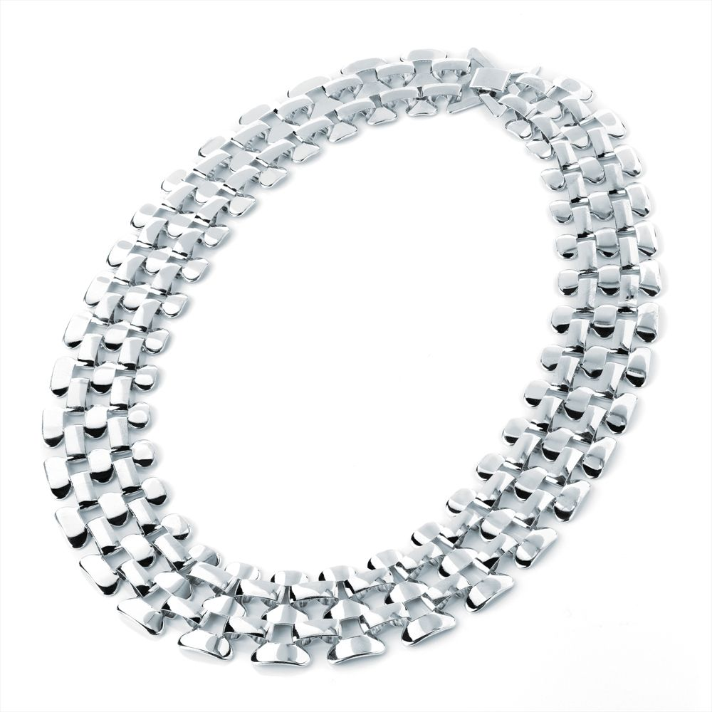Silver Colour Chain Fashion Necklace