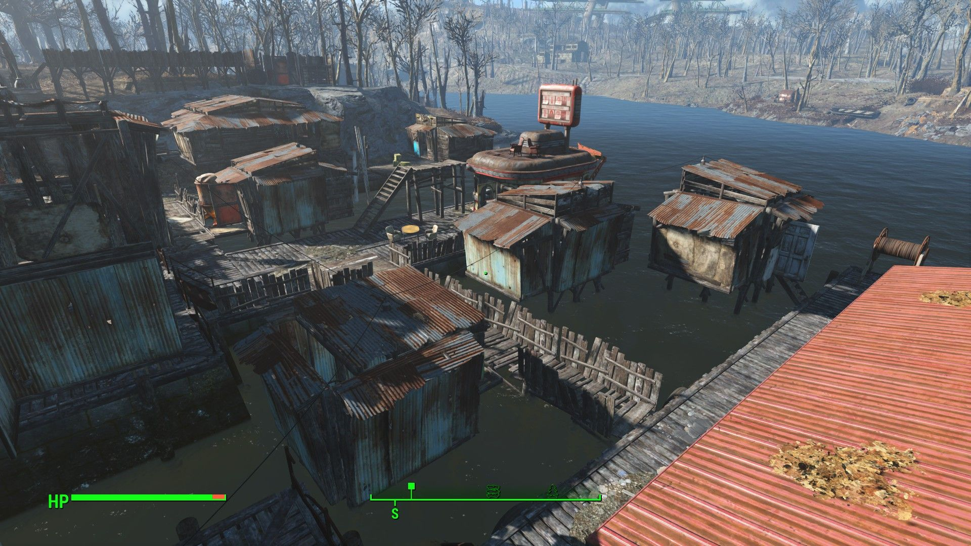 From top of garage Fallout 4 settlement ideas