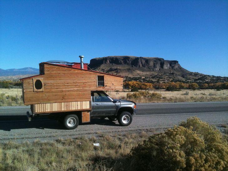 Diy Truck Camper Made From Reclaimed Materials Truck Camper