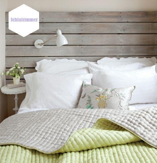 Kleines Schlafzimmer günstig kreativ einrichten Bett Kopfteil - schlafzimmer selbst gestalten