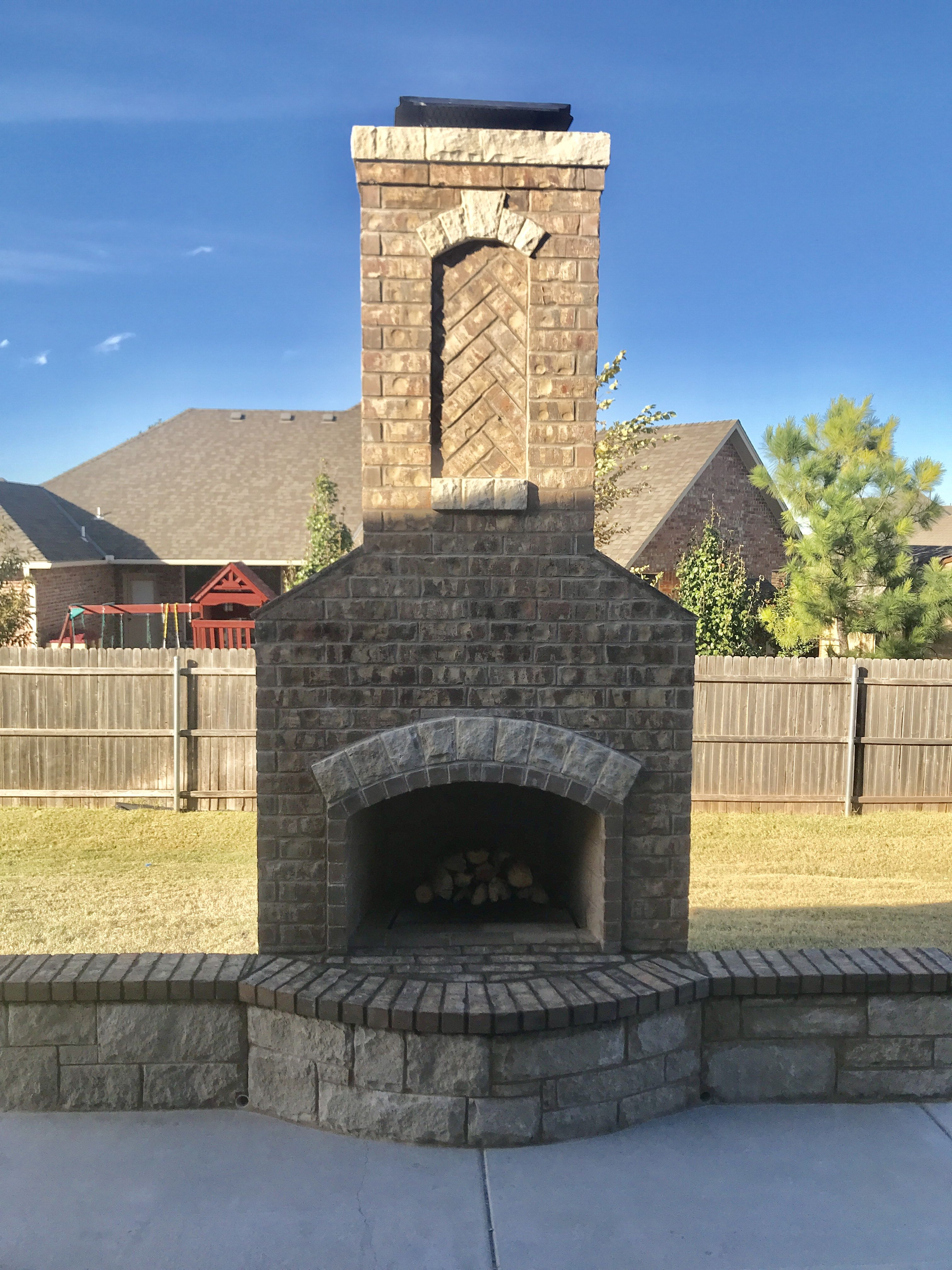 Pin By Pmhokc Com On Custom Outdoor Fireplaces Fireplace Custom Fireplace Brick Fireplace