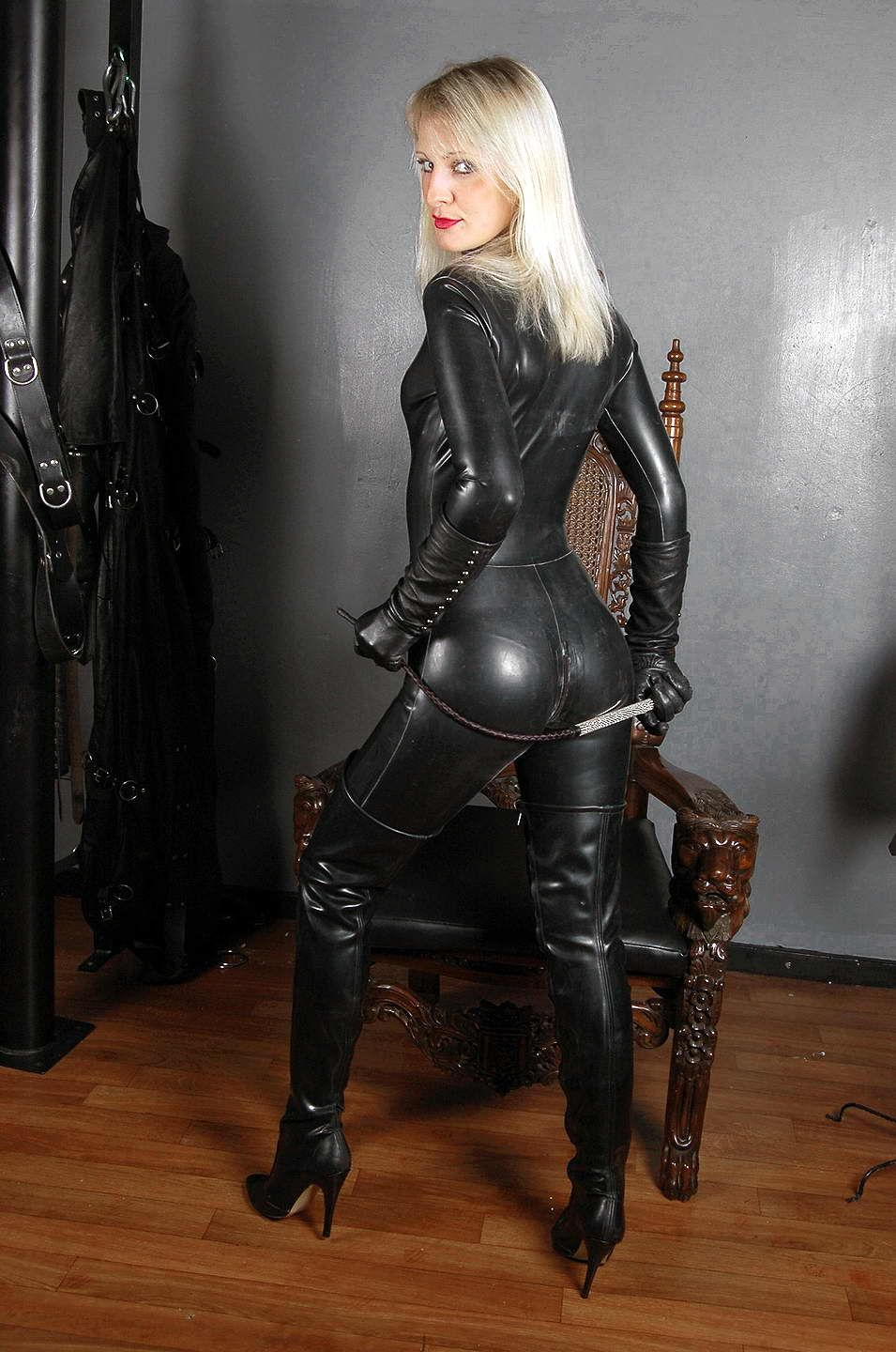 Leather rubber and lace sex