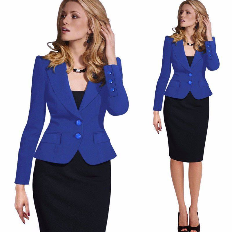 Plus Size 2016 Women Spring Autumn Blazers