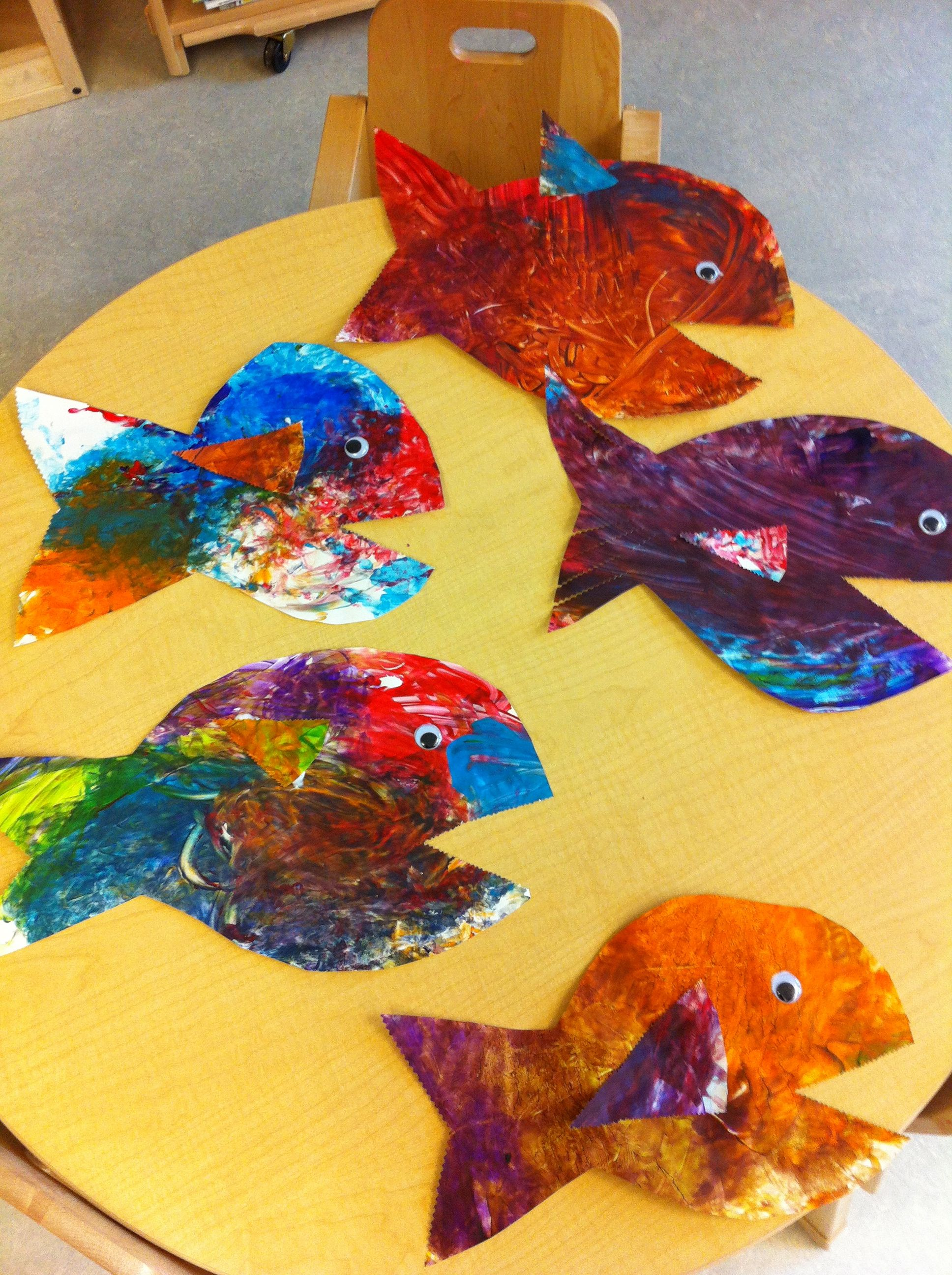 Finger Painting Turned Into Fish This Is For An Under The Sea Theme At Our School
