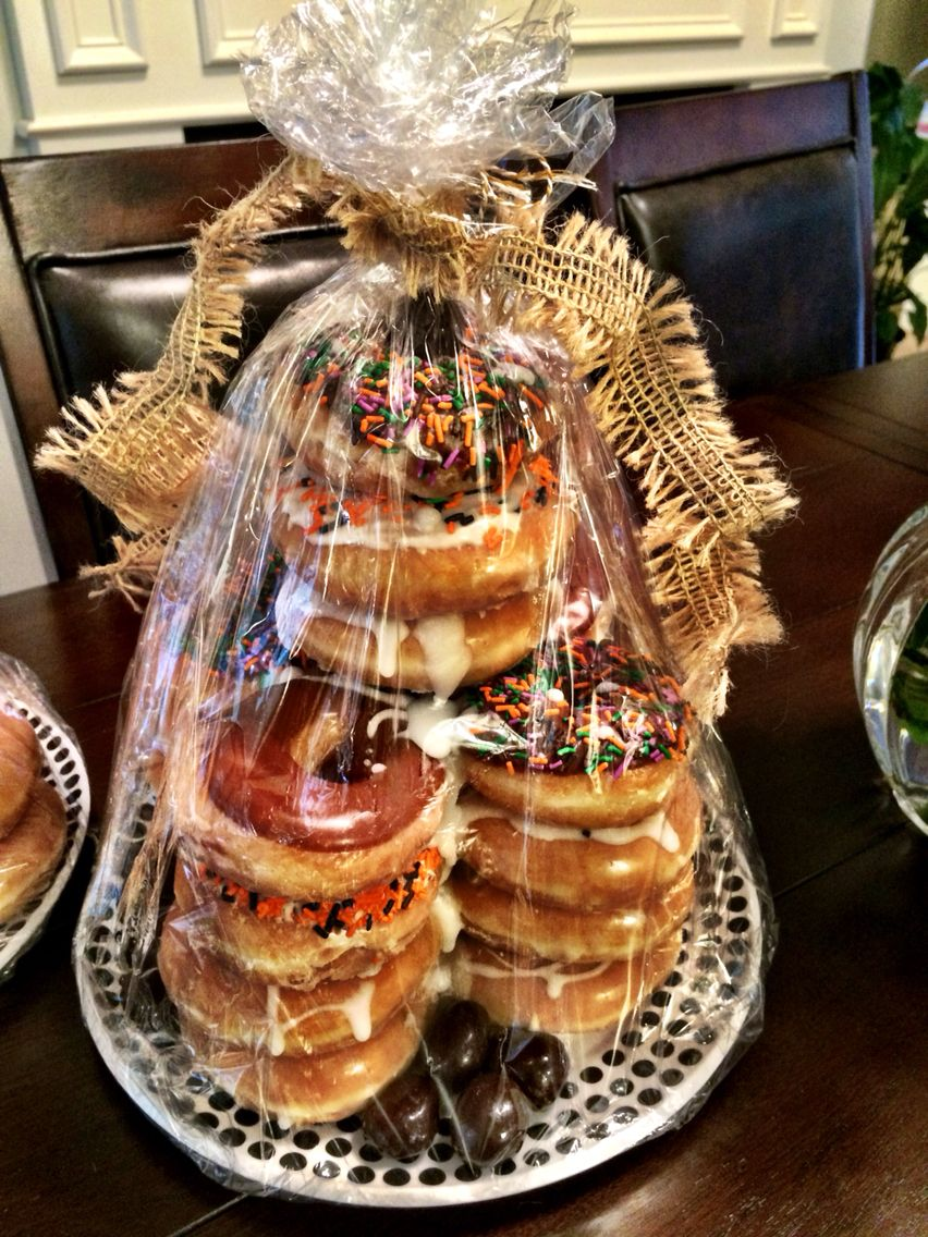 Donut tower great idea for a birthday cake sweet