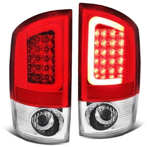 For 02 06 Dodge Ram 3rd Gen Pair Of 3d Led Brake Tail Lights Chrome Housing Red Lens 03 04 05 Chrome Red Ram Accessories Dodge Ram Accessories Tail Light