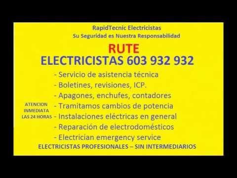 Electricistas RUTE 603 932 932 Baratos