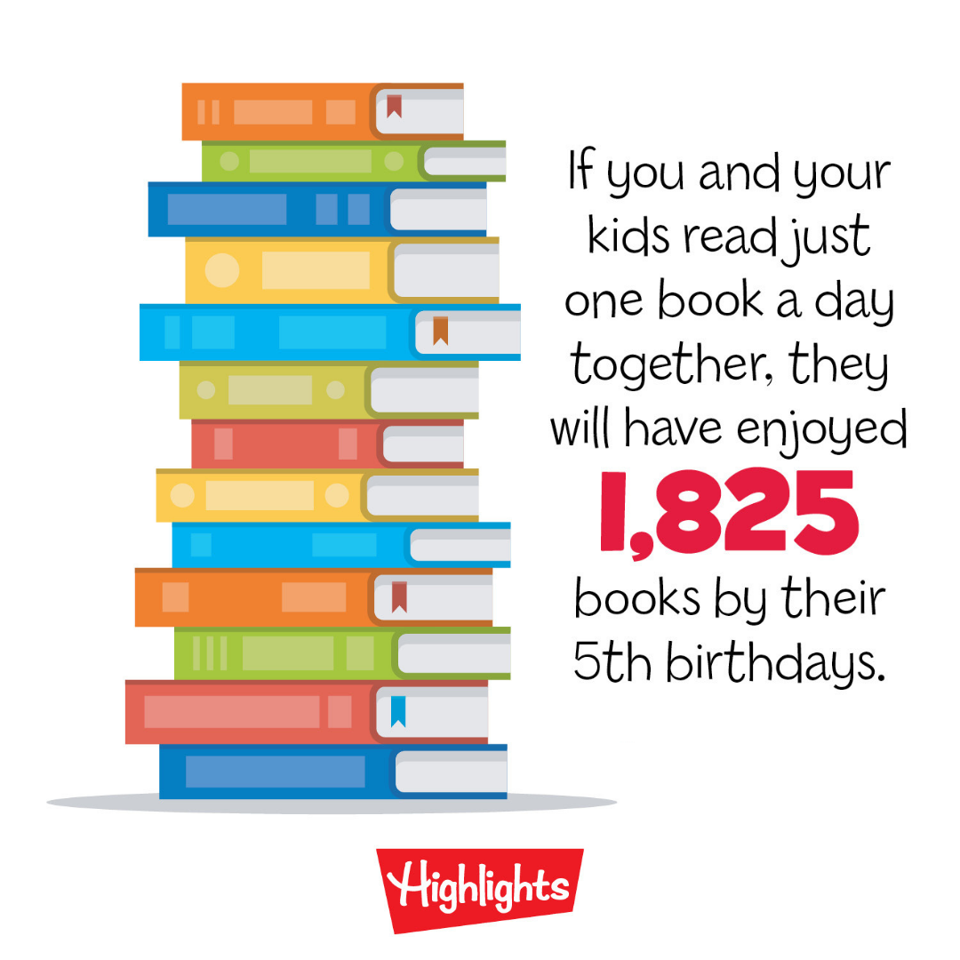 If you and your kids read just one book a day together, they will have  enjoyed 1,825 books by their 5th birthday… | Fun workbook, Kids reading,  Summer learning loss