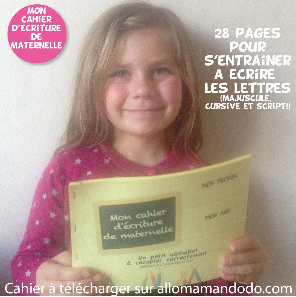 9 Lettre Projet Professionnel Fongecif: Le Cahier D'écriture De Maternelle à Télécharger ( Gratuit