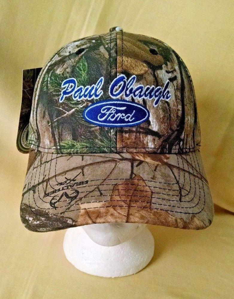 49fdc432 Realtree Hat Camo Paul Obaugh Ford NEW NWT Cap America Camouflage  Adjustable Cap #CapAmericaCapAmerica #BaseballCap