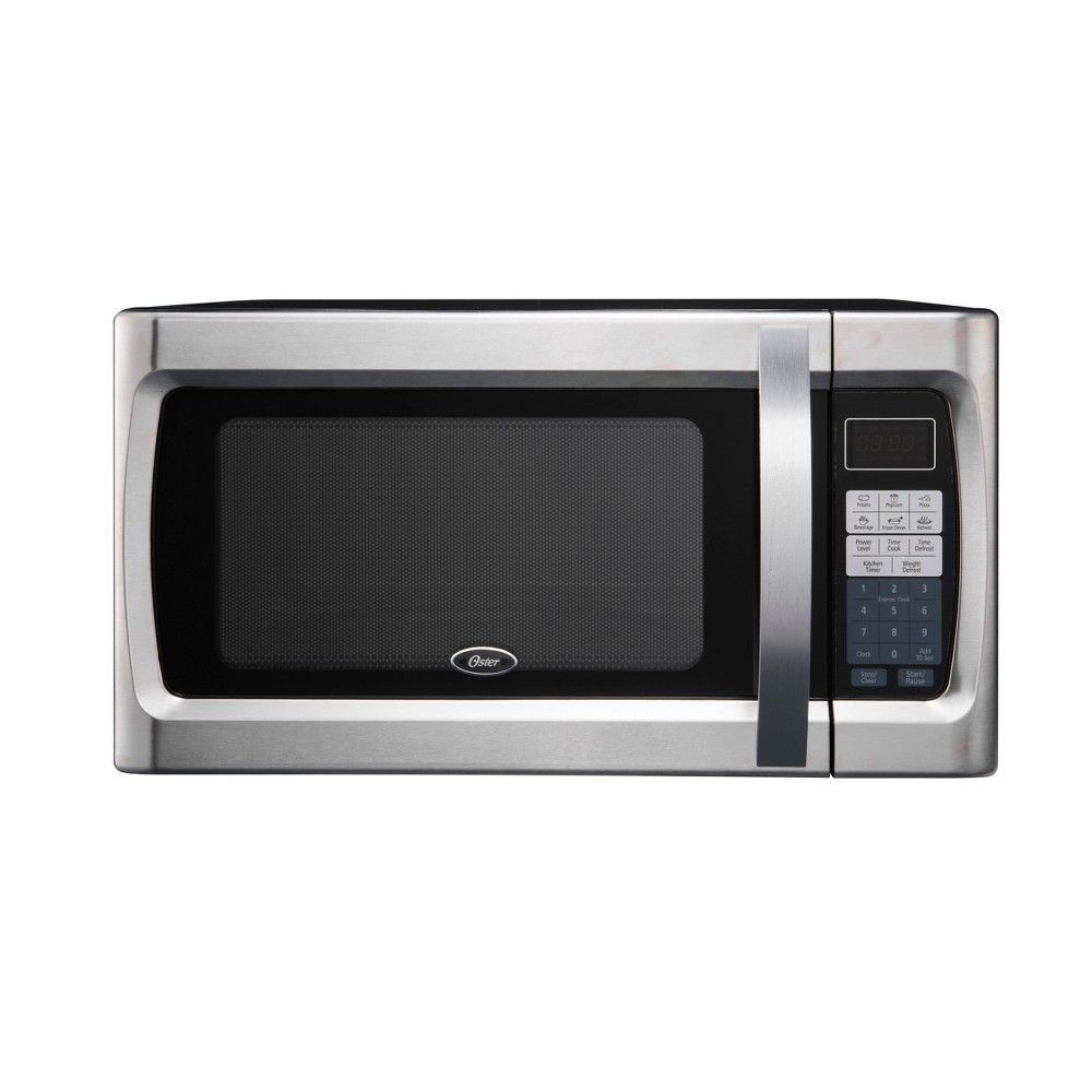 Oster 1 3 Cu Ft 1100 Watt Microwave Oven Stainless Steel Ogzf1301 Stainless Steel Oven Microwave Oven Countertop Microwave