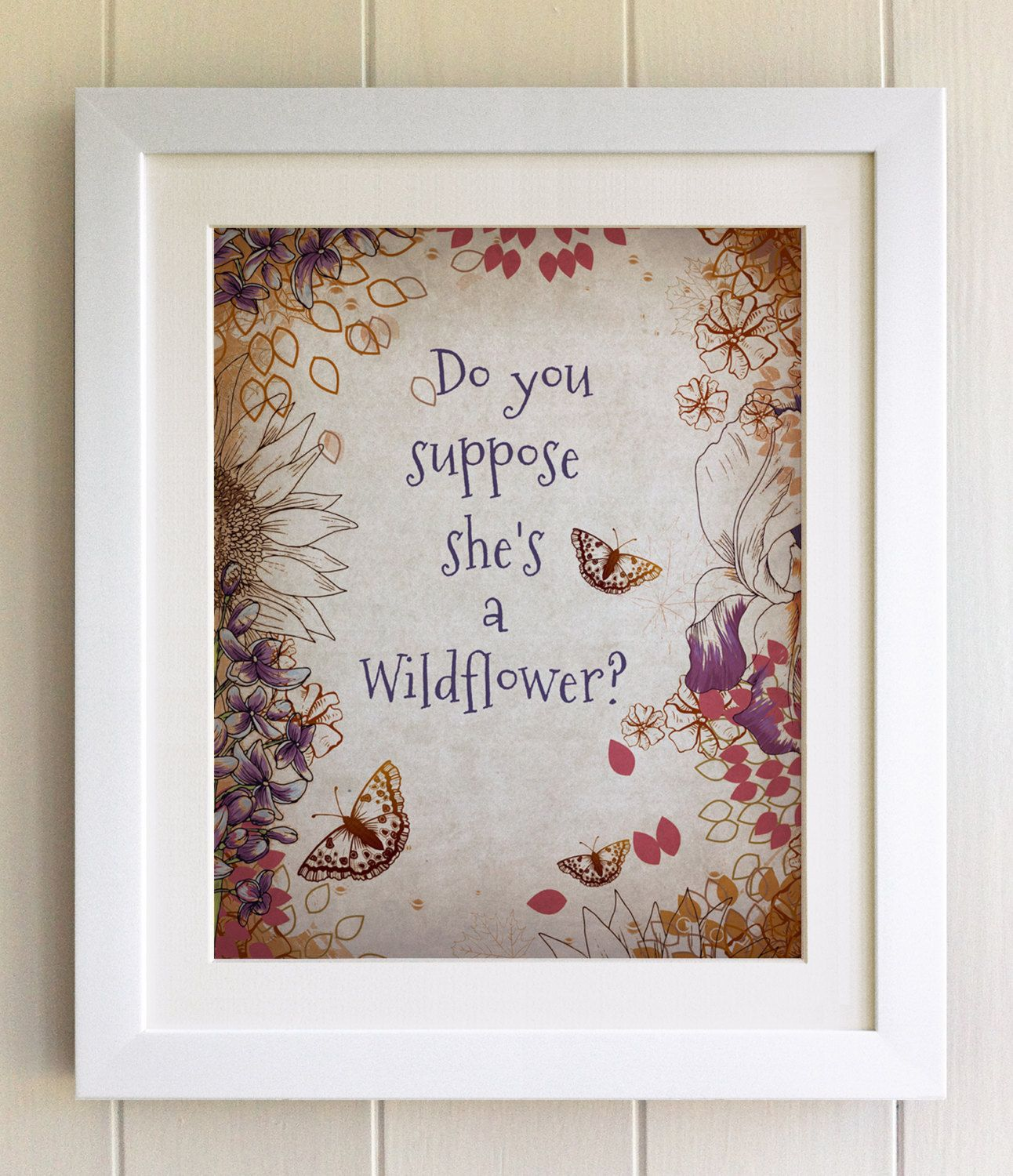 FRAMED QUOTE PRINT, Alice in Wonderland, Do you suppose she\'s a ...