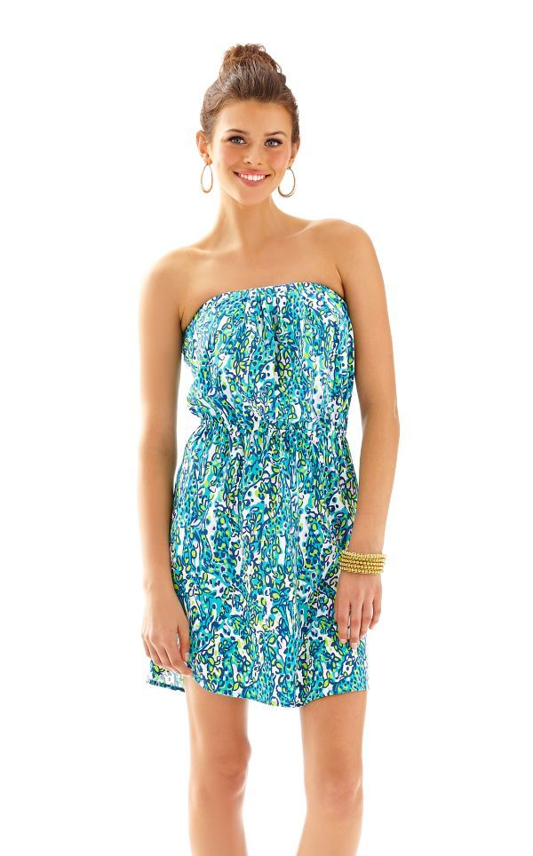 45881a2f15e9d4 Windsor Strapless Pull-On Dress - Lilly Pulitzer Sea Blue Its A Stretch
