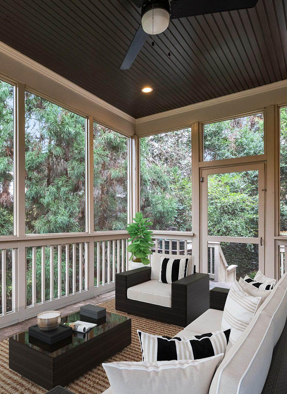 covered screened porch furniture   Screened in porch furniture ...