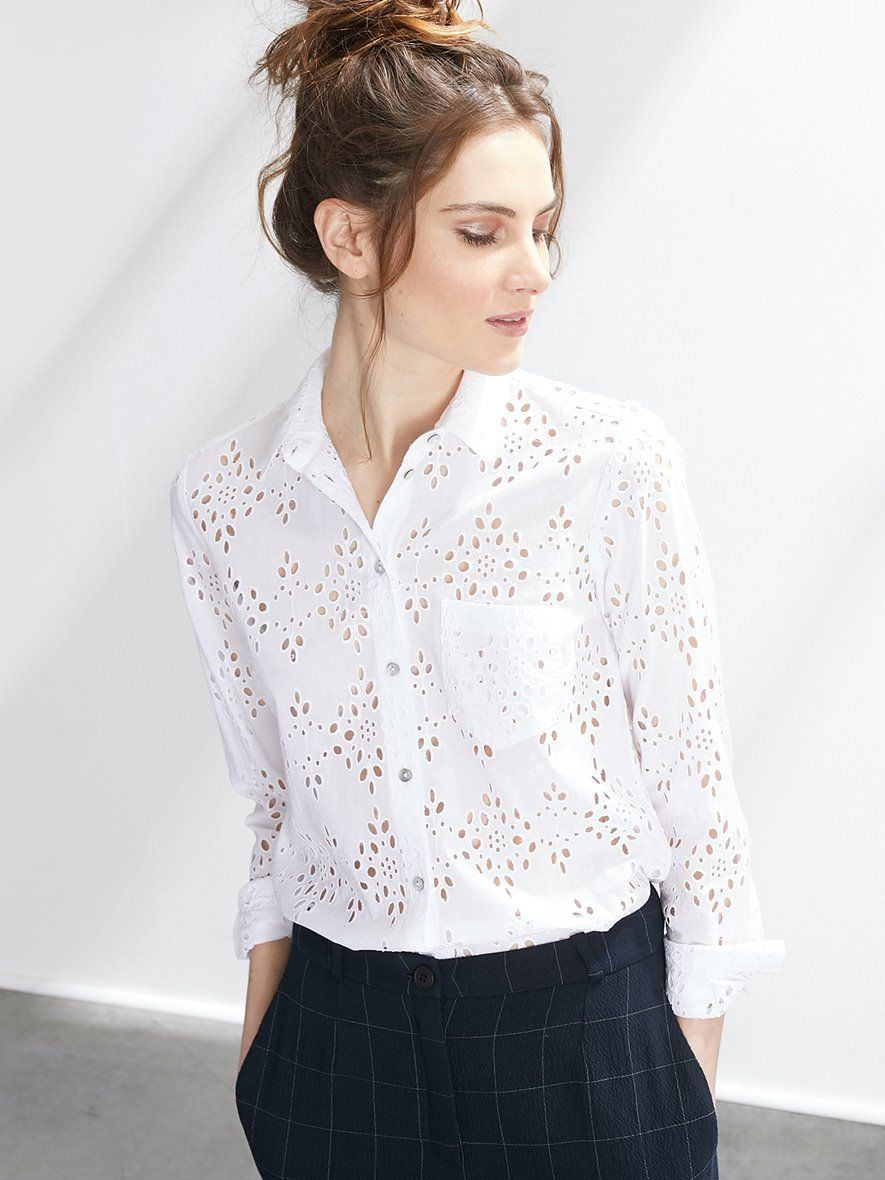 cheap for discount exclusive shoes free delivery Inspiration for a Liesl and Co Classic Shirt in broderie ...
