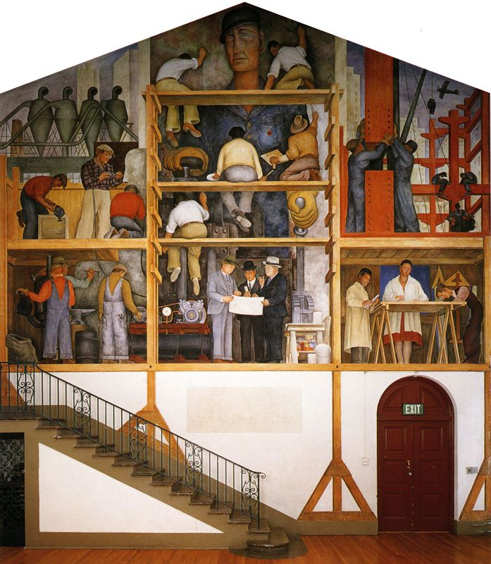 How to visit diego rivera murals in san francisco diego for Diego rivera mural in san francisco