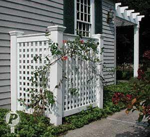 ac unit fence yahoo search results garden pinterest. Black Bedroom Furniture Sets. Home Design Ideas