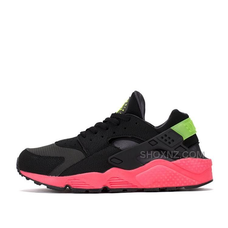 2015 Nike Air Huarache Mens Hyper Punch Black Red Running Shoes Couples Shoes Online Sale