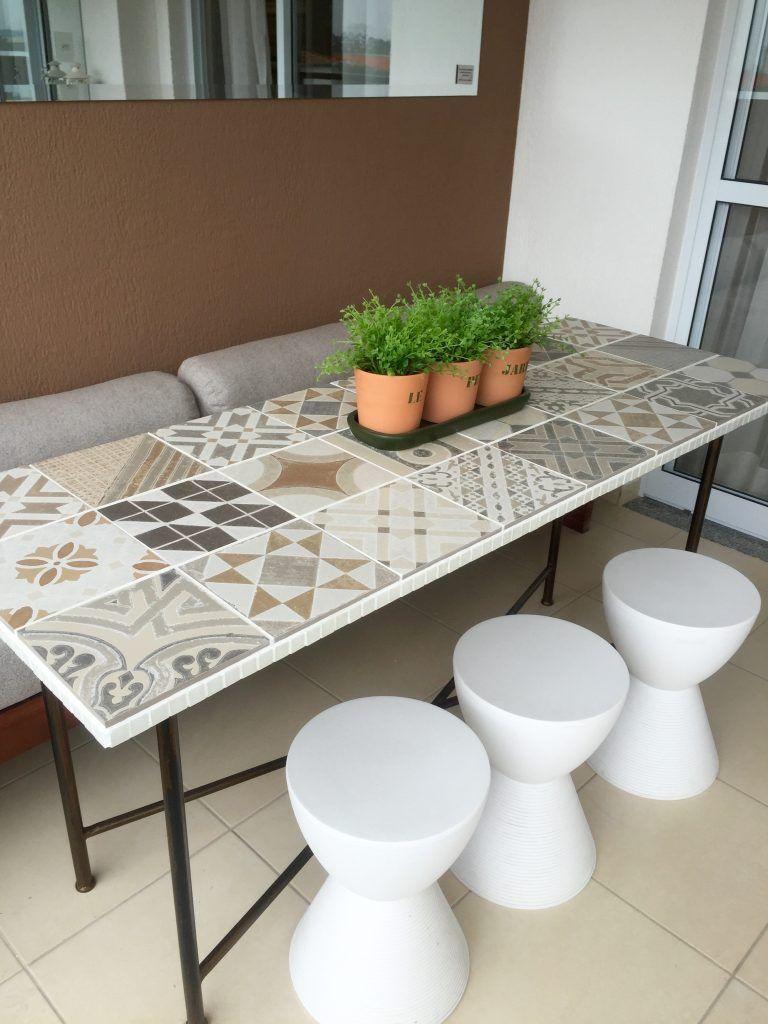 Mesa De Porcelanato No Apartamento Decorado Na Casa Do Cliente  # Muebles Santa Rua