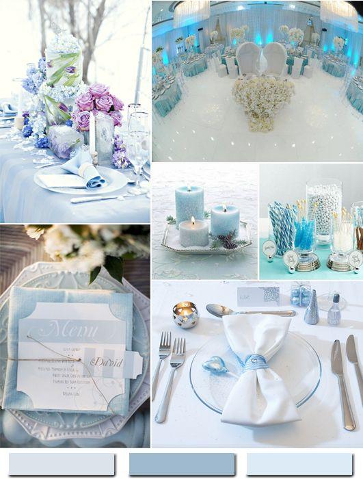 hot winter hochzeit farbkombinationen eisblau wei oder. Black Bedroom Furniture Sets. Home Design Ideas