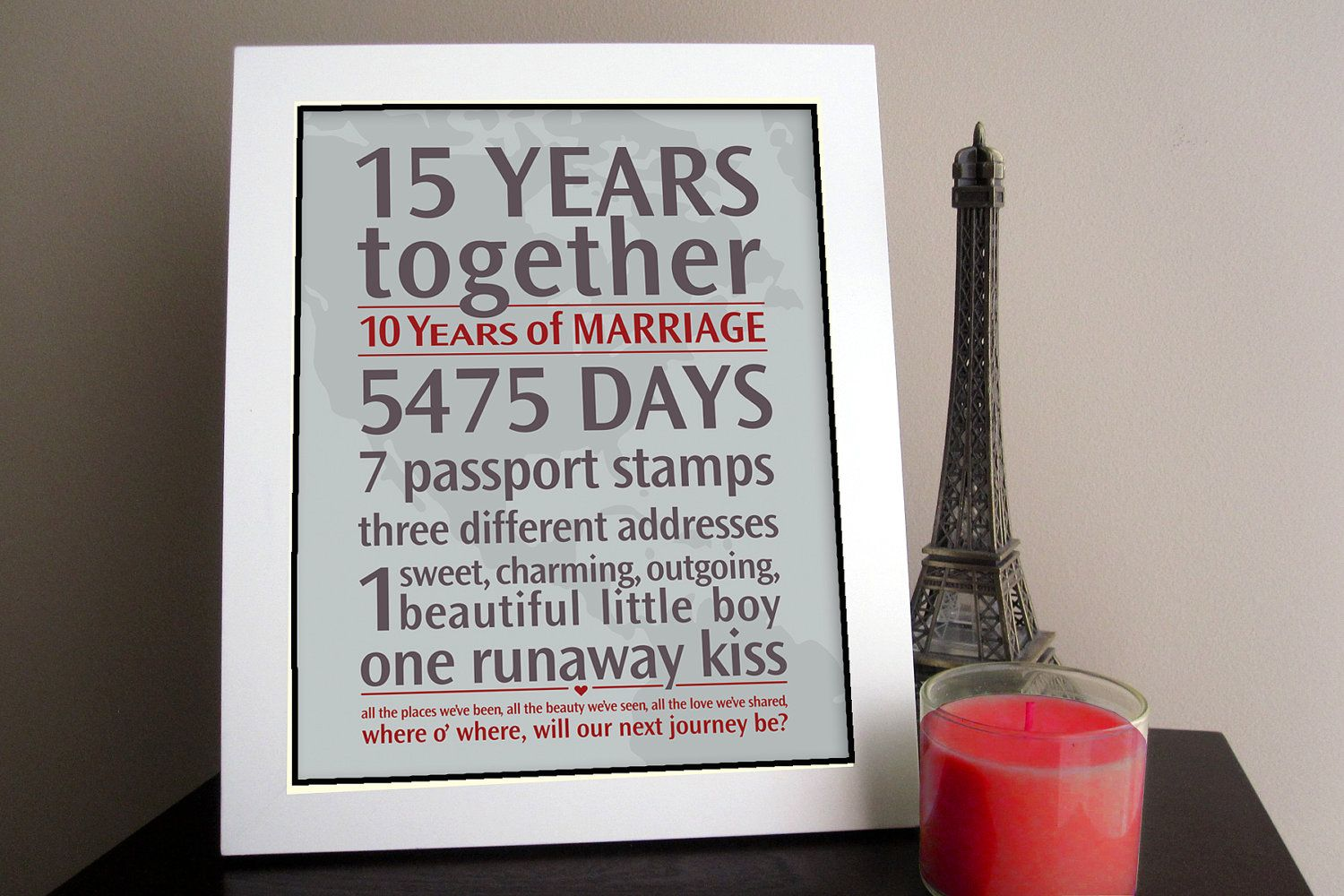 Diy Personalized Wedding Anniversary Gift Your Loves Journey By