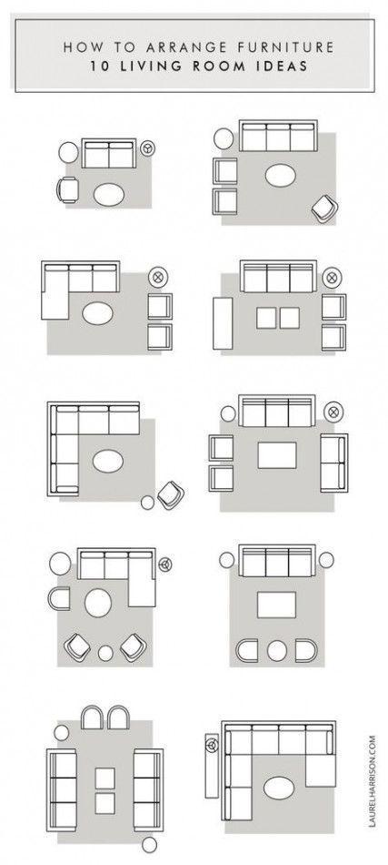 Keller umgestalten Wohnzimmermöbel Anordnung 40 Ideen für ...