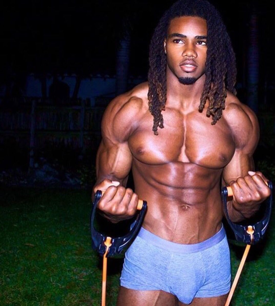 Pin on Sexy athletic black and light skin men