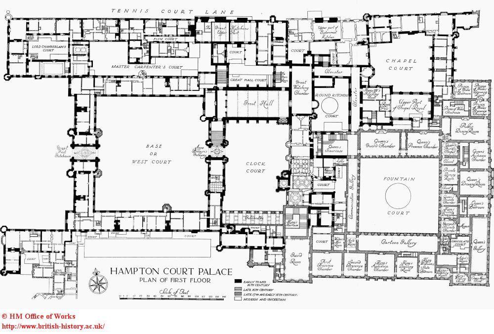 Hampton court first floor plan architecture pinterest for Palace house plans