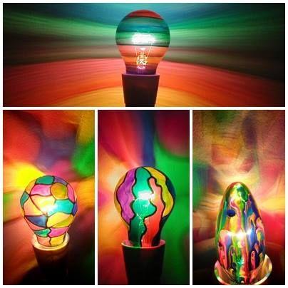 Rainbow Light Bulbs Colourful Abstract Mood Lighting Www