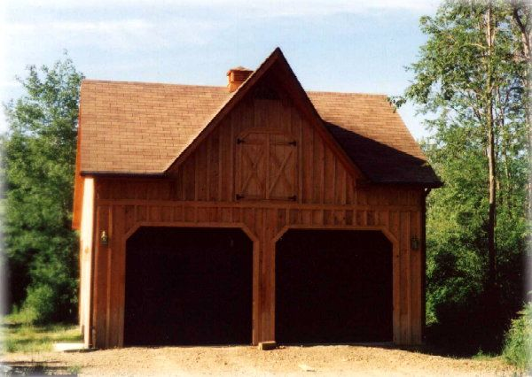 Saltbox Garage with Loft | 24'x32' saltbox with gable dormer and 24'x24' 2nd floor